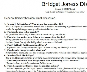 Movie Worksheet: Bridget Jones's Diary