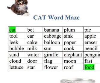 Cat Word Maze