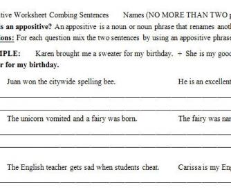 Appositives (Fun Sentences)