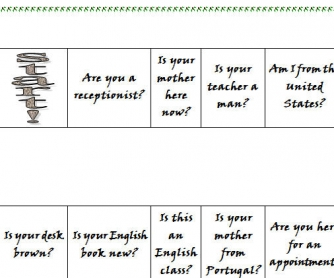 Verb TO BE: Short Answer Board Game