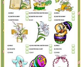 Easter Multiple Choice Activity