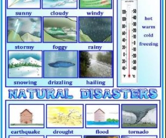 The Weather and Natural Disasters: Classroom Poster