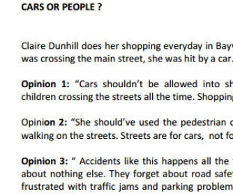 Cars Or People?