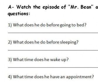 Mr. Bean Activity