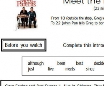 Movie Worksheet: Meet the Parents