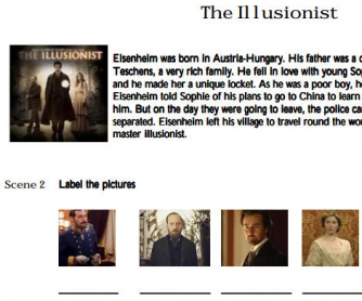 Movie Worksheet: The Illusionist
