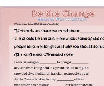 Be the Change - Word Formation