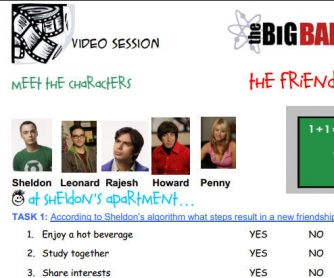Video session: The Big Bang Theory - The Friendship Algorithm