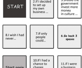 Business English Conditionals Board Game
