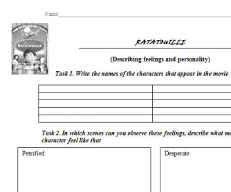 Movie Worksheet: Ratatouille