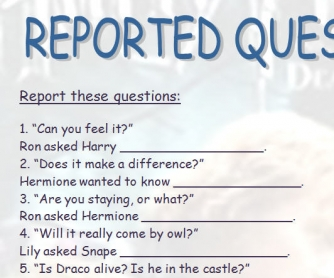 Reported Questions [Practice]