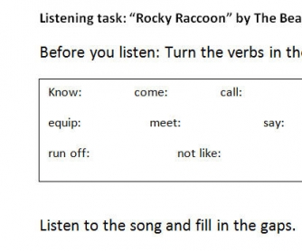 Song Worksheet: Rocky Racoon by the Beatles