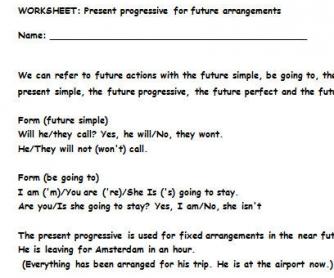 Present Progressive for Future Actions