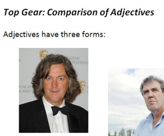 Top Gear: Comparison of Adjectives