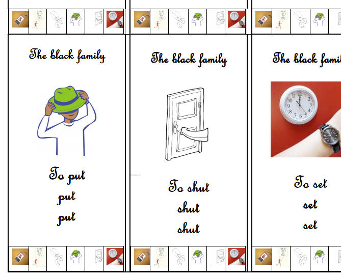 Irregular Verbs: Memory Card Game