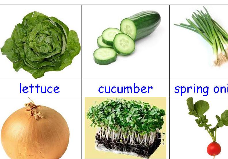 Salad Vegetables Flashcards