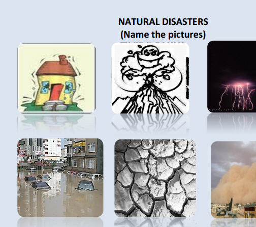 notes on natural disasters In this lesson plan, students unjumble words to reveal four natural disasters before listening to information on hurricanes and floods comprehension questions focus on the what, why, where and when.