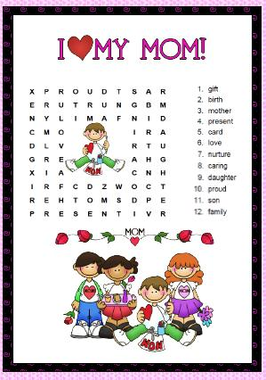 ... Wordsearch Puzzle School Subjects Word Search Mother Tile Puzzle