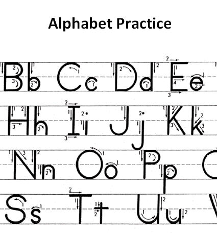 Worksheets Abc Writing abc writing template