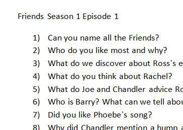 Friends Season 1 Episode 1: Discussion Questions