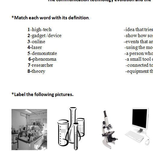 Number Names Worksheets worksheet of science : Science And Technology Worksheet