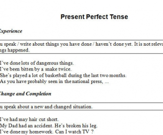 Present Perfect: Usage and Exercises