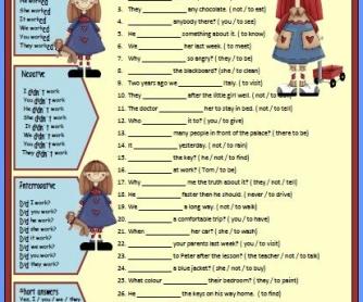Revising Verb Tenses: Past Simple Worksheet