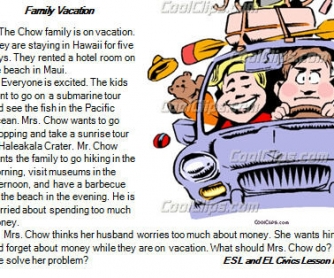 Family Vacation: Reading Comprehension Test