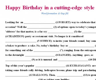 Happy Birthday in a Cutting Edge Style