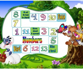 Cardinal Numbers Elementary Boardgame