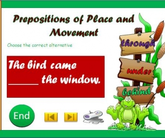 Prepositions of Place and Movement: Multiple Choice Activity