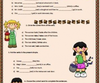 Simple Present: Affirmative Form Worksheet