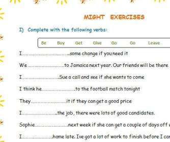 Might Worksheet
