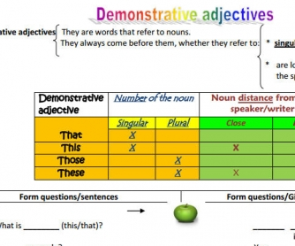 Demonstrative Adjectives: How Do I Use Them?