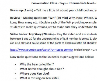 Conversation Lesson About Toys