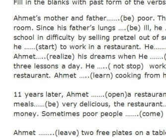 Poor Ahmet: Past Simple Exercise