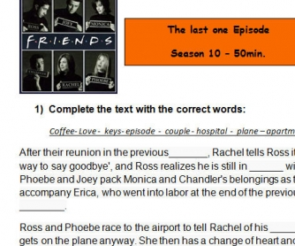 Movie Worksheet: Friends - The Last One
