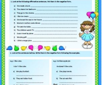 Present Simple: Interrogative Form Worksheet