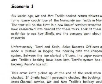 Solving Scenarios
