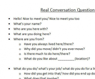 Real Conversation Questions