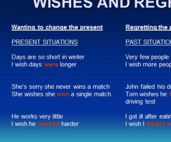 Wishes And Regrets PowerPoint Presentation
