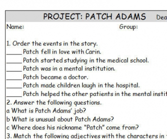Movie Worksheet: Patch Adams Project
