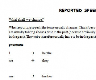 Reported Speech: Useful Tips