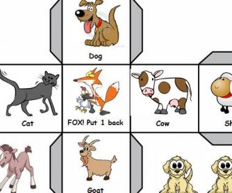 Farm Animals: Fun Roll-the-dice Game