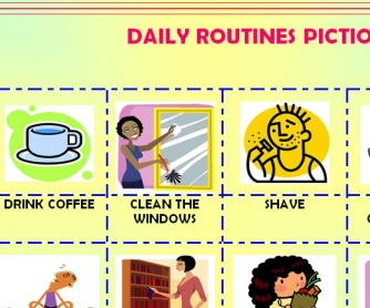 Daily Routines Pictionary