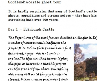 Scotland: A Castle Ghost Tour