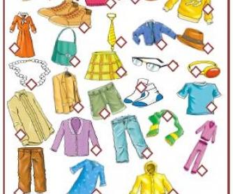 Clothes: Missing Vowels Activity