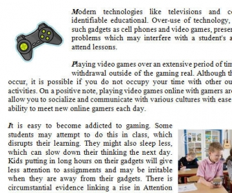 Video Games: A Boon or Bane?