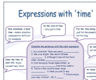Expressions With 'Time'