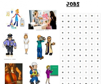 Jobs Wordsearch & Dictation